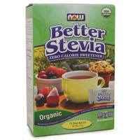 NOW Better Stevia Organic, 75 Packets | NutriFarm.ca