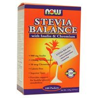 NOW Stevia Balance with Inulin and Chromium, 100 Packets 1g each | NutriFarm.ca