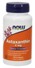 NOW Astaxanthin 4 mg, 90 Softgels | NutriFarm.ca