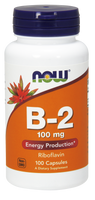 NOW B-2 100 mg, 100 Capsules | NutriFarm.ca