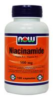 NOW Niacinamide 500 mg, 100 Capsules | NutriFarm.ca