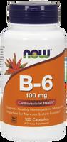 NOW Vitamin B-6 100 mg, 100 Capsules | NutriFarm.ca