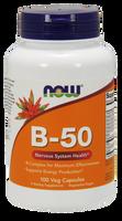 NOW Vitamin B-50, 100 Capsules | NutriFarm.ca