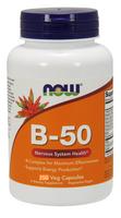 NOW Vitamin B-50, 250 Capsules | NutriFarm.ca