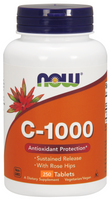 NOW C-1000 Sustained Release, 250 Tablets | NutriFarm.ca