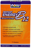 NOW B12 Instant Energy 2000 mcg B12, 75 Packets | NutriFarm.ca