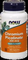 NOW Chromium Picolinate 200 mcg, 100 Capsules | NutriFarm.ca