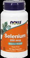 NOW Selenium 200 mcg Yeastfree, 90 Vegetable Capsules   NutriFarm.ca