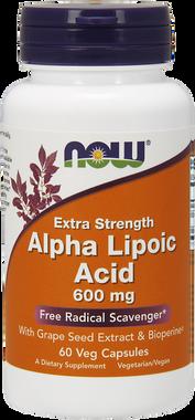 NOW Alpha Lipoic Acid 600 mg, 60 Vegetable Capsules   NutriFarm.ca