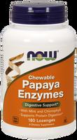 NOW Papaya Enzyme Chewable, 180 Lozenges | NutriFarm.ca