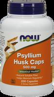 NOW Psyllium Husk 500 mg, 200 Capsules | NutriFarm.ca