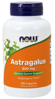 NOW Astragalus 500 mg, 100 Capsules | NutriFarm.ca