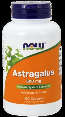 NOW Astragalus 500 mg, 100 Capsules   NutriFarm.ca
