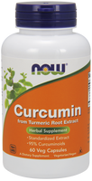 NOW Curcumin, 60 Vegetable Capsules | NutriFarm.ca