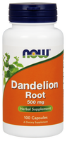 NOW Dandelion Root 500 mg, 100 Capsules | NutriFarm.ca