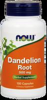 NOW Dandelion Root 500 mg, 100 Capsules | NutriFarm.ca
