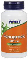 NOW Fenugreek 500 mg, 100 Capsules | NutriFarm.ca