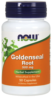 NOW Goldenseal Root 500 mg, 50 Capsules | NutriFarm.ca