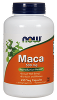 NOW Maca 500 mg, 250 Vegetable Capsules | NutriFarm.ca