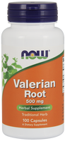 NOW Valerian Root 500 mg, 100 Capsules | NutriFarm.ca