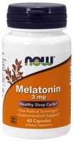 NOW Melatonin 3 mg, 60 Capsules | NutriFarm.ca
