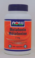NOW Melatonin 3 mg, 180 Capsules | NutriFarm.ca