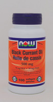 NOW Black Currant Oil 500 mg, 100 Softgels | NutriFarm.ca