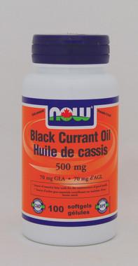 NOW Black Currant Oil 500 mg, 100 Softgels | NutriFarm.ca