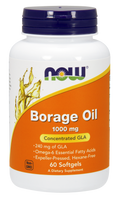 NOW Borage Oil 1000 mg, 60 Softgels | NutriFarm.ca
