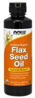 NOW Organic Flax Oil Liquid, 355 ml | NutriFarm.ca