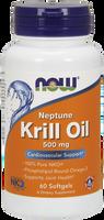NOW Neptune Krill Oil 500 mg, 60 Softgels | NutriFarm.ca