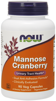 NOW Mannose Cranberry, 90 Vegetable Capsules | NutriFarm.ca