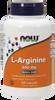 NOW L-Arginine 500 mg, 100 Capsules | NutriFarm.ca
