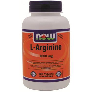 NOW L-Arginine 1000 mg, 120 Tablets   NutriFarm.ca
