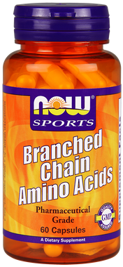NOW Branch-Chain Amino Acid, 60 Capsules | NutriFarm.ca
