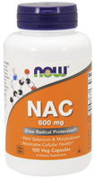 NOW NAC 600 mg, 100 Vegetable Capsules | NutriFarm.ca