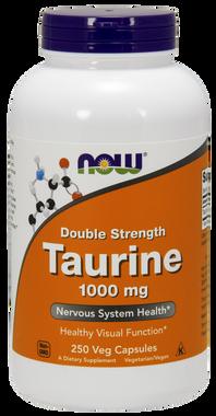 NOW Taurine 1000 mg, 100 Vegetable Capsules | NutriFarm.ca