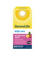 RENEW LIFE Norwegian Gold Kids DHA, 60 Chewable Softgels | NutriFarm.ca