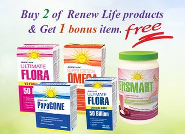 Renew Life Get 2 items and 1 bonus item | NutriFarm.ca