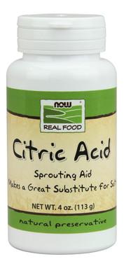 NOW Citric Acid, 113 g | NutriFarm.ca