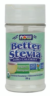 NOW Organic Stevia Powder Shaker, 28 g   NutriFarm.ca