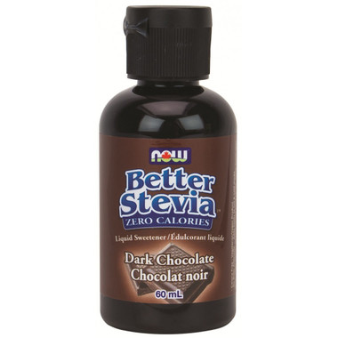 NOW Stevia Liquid Dark Chocolate, 60 ml | NutriFarm.ca