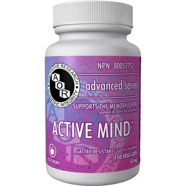 AOR Active Mind, 150 Vegetable Capsules | NutriFarm.ca
