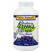 Prairie Naturals Blueberry Greens-Force, 296 g | NutriFarm.ca