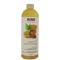 NOW Almond Sweet Expeller Pressed, 473 ml | NutriFarm.ca