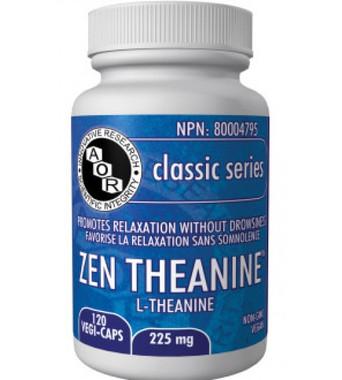 AOR Zen Theanine, 120 Vegetable Capsules | NutriFarm.ca