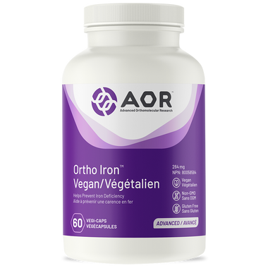AOR Ortho Iron Vegan, 60 Vegetable Capsules | NutriFarm.ca