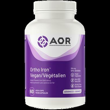 AOR Ortho Iron Vegan, 60 Vegetable Capsules | NutriFarm.ca