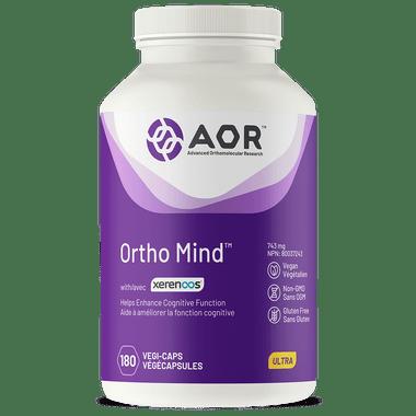 AOR Ortho Mind, 180 Vegetable Capsules | NutriFarm.ca