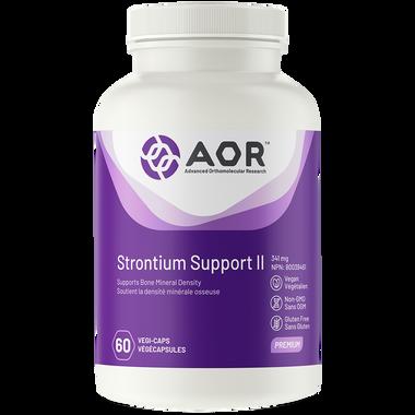 AOR Strontium Support ll, 60 Vegetable Capsules | NutriFarm.ca